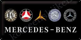 blikken wandbord Mercedes-Benz logo's / evolution  25-50 cm