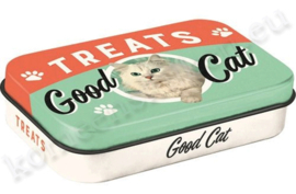 blikken doosje Pet Treat Box Good Cat NA82205