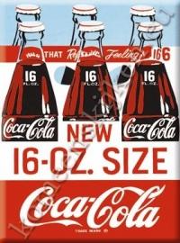 metalen ansichtkaart Coca Cola new 16 oz size 15-21 cm