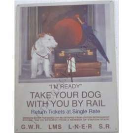 wandbord take your dog by rail 30-40 cm