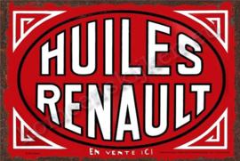 blikken reclamebord huiles Renault 30-40 cm