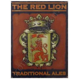 ijzeren wandplaat the red lion 30-40 cm