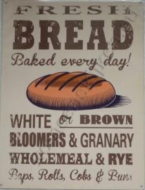 metalen wandplaat fresh bread 30x40 cm