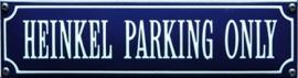 emaille straatnaambord heinkel parking only