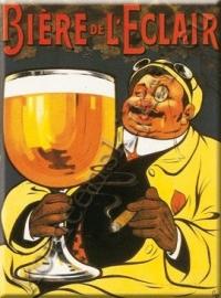 metalen ansichtkaart biere de l`eclair 15-21 cm