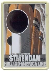 metalen ansichtkaart HAL statendam 10-14 cm