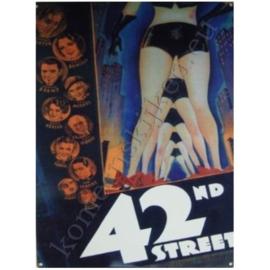 metalen wandplaat 42nd street 30-40 cm