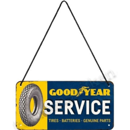 Hanging Sign good year service 10x20 cm NA28022