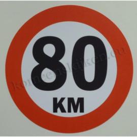 sticker 80 km 14 cm