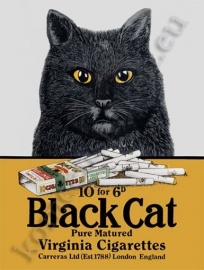 blikken reclamebord black cat 30-40 cm
