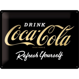 metalen reclamebord Coca Cola black edition 30x40 cm