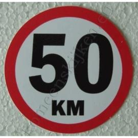 sticker 50 km 7,5 cm