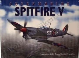 nostalgische wandplaat spitfire v 30-40 cm