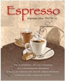 metalen wandplaat espresso 30-40