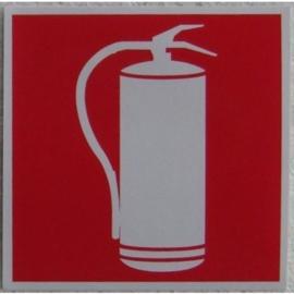 sticker brandblusser 9,8 cm