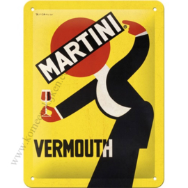 metalen reclamebord Martini waiter 15x20 cm