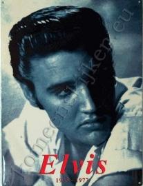 blikken bord Elvis zwart /wit 30-40 cm