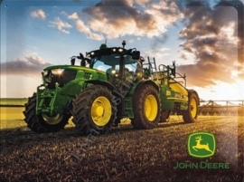 Metalen reclamebord john deere photo, zon 30-40 cm