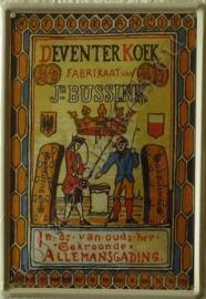 metalen ansichtkaart deventer koek 10-14 cm