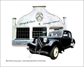 metalen reclamebord Citroen Traction Garage 20-30 cm