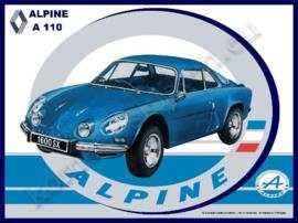 blikken wandplaat Renault Alpine A110  20-30 cm