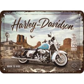 wandplaat Harley-Davidson Road King 15x20 cm