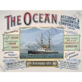 blikken reclamebord The ocean 30-40 cm