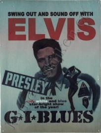 metalen affiche Elvis G.I. Blues 30x40 cm
