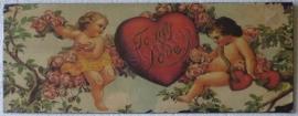 metalen bord to my love 39,5-15 cm