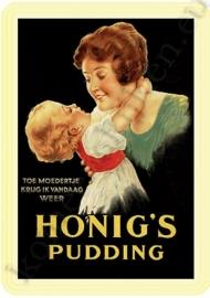 blikken reclame honig`s pudding 20-30 cm