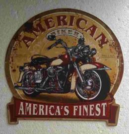 metalen bord American rider 30 cm rond