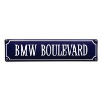 emaille straatnaambord BMW boulevard
