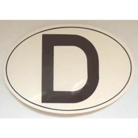 sticker D Duitsland 12,5 bij 8,5 cm