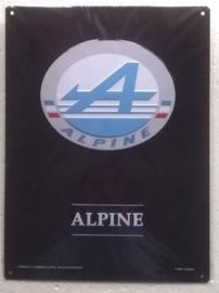 metalen wandplaat Alpine logo 30x40 cm
