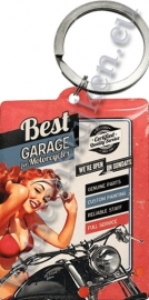 metalen sleutelhanger best garage
