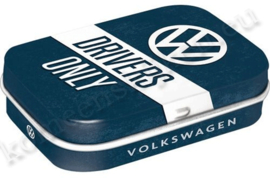 metalen mint box VW drivers only