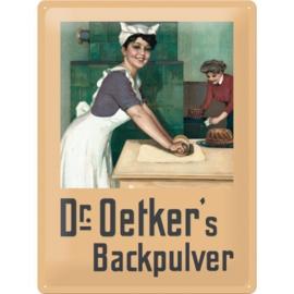 nostalgische wandplaat Dr Oetker 30x40 cm