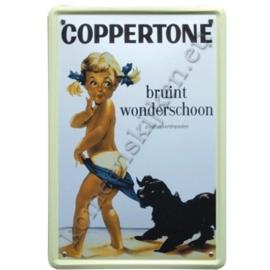 metalen reclamebord Coppertone 30-40 cm