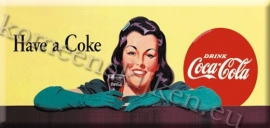 koelkast magneet coca cola geel