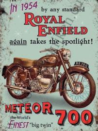 metalen wandplaat Royal Enfield Meteor 30x40 cm