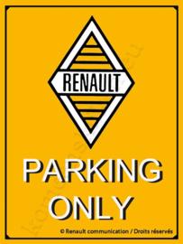 metalen bord renault parking only 30-40 cm