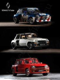blikken reclamebord Renault R5 Turbo 3 stuks 30x40 cm