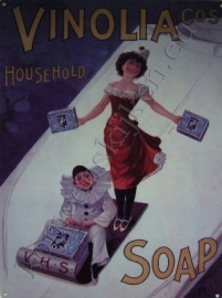 metalen wandplaat vinolia soap 30-40