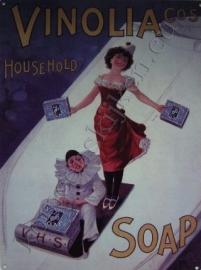metalen wandplaat vinolia soap 30-40