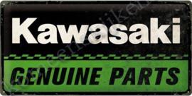 blikken wandplaat Kawasaki geniune parts 25-50 cm