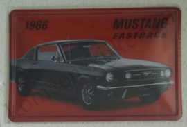 metalen reclamebord Ford Mustang fastback 20x30 cm