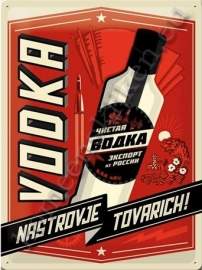 metalen reclamebord vodka 30-40 cm..