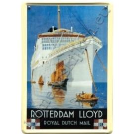 metalen wandplaat Rotterdam Lloyd dempo 20-30 cm