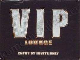 blikken wandplaat VIP lounche 30-40 cm