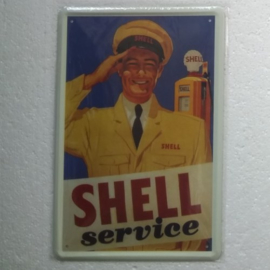 metalen wandbord Shell 20x30 cm